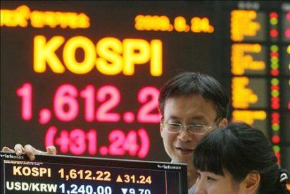 El índice Kospi sube 17,95 puntos, 1,06 por ciento, hasta 1.707,98 puntos