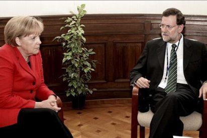 Merkel dice que hay que animar a España a que prosiga con el esfuerzo económico