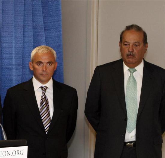Los empresarios Slim y Giustra anuncian un fondo de 20 millones para empresas de Haití