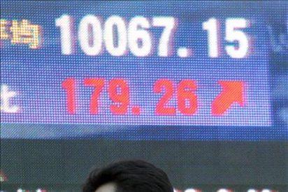 El índice Nikkei sube 146,62 puntos, 1,46 por ciento, hasta 10.141,64 puntos