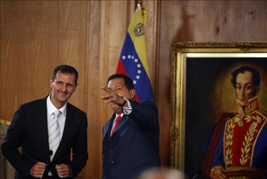 """Chávez y Al Asad admiten ser del """"Eje del mal"""" por amigos y enemigos comunes"""