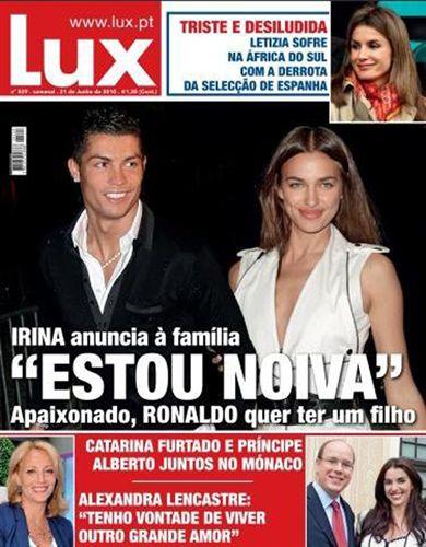 Cristiano Ronaldo quiere tener un hijo con Irina Shakyk