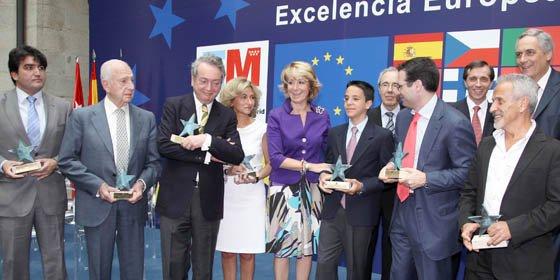 Esperanza Aguirre entregó hoy los Premios a la Excelencia Europea