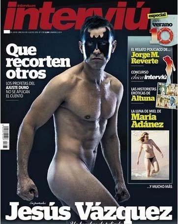 Jesús Vázquez es el primer hombre en posar desnudo en la portada de «Interviú»
