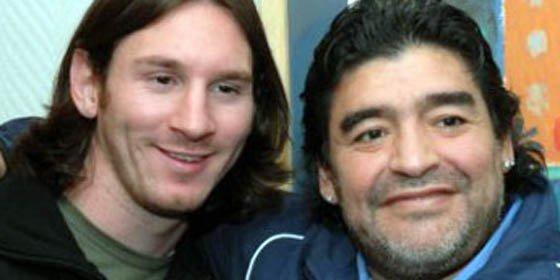 """Maradona: """"Quiero ser campeón mundial y tengo a Messi"""""""