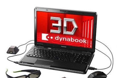 Los primeros portátiles con pantalla 3D salen a la venta en Japón
