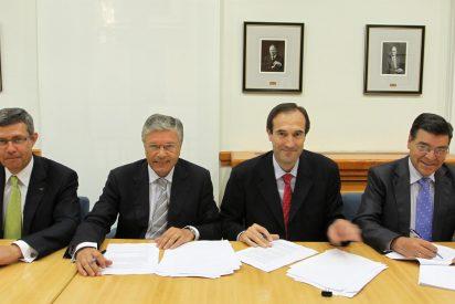 CAM, Cajastur, Caja Extremadura y Caja Cantabria firman el contrato de integración