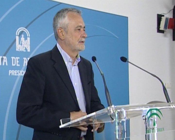 """(Ampl.) Griñán rechaza la eliminación """"drástica"""" de ayudas a la compra de VPO y pide un periodo transitorio"""