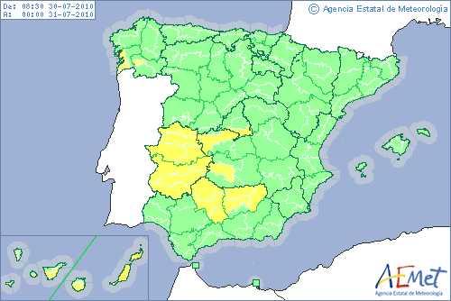 Once provincias, en alerta amarilla por altas temperaturas