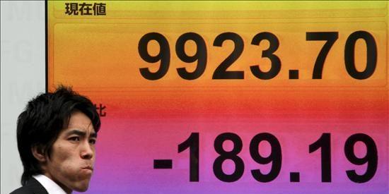 El índice Nikkei sube 43,84 puntos, el 0,48 por ciento, hasta 9.247,55 puntos