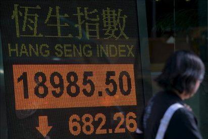 El Hang Seng baja un 0,23% a media sesión, hasta los 19.859,94 puntos