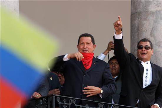 Correa llega a Venezuela para una visita de dos días