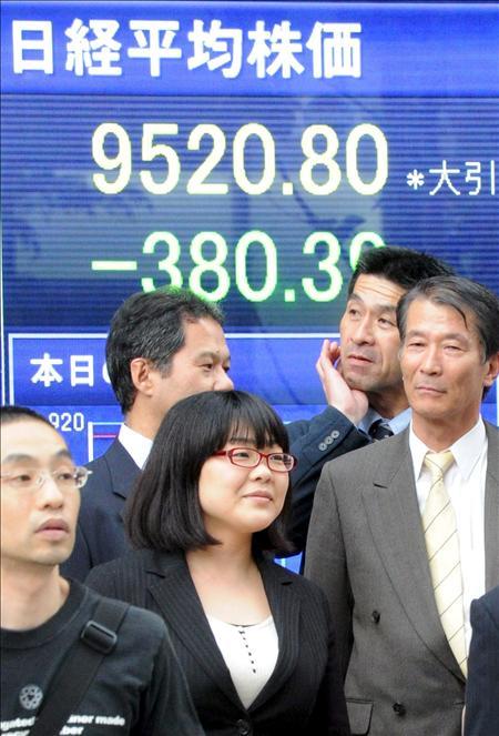 El índice Nikkei baja 130,18 puntos, 1,40 por ciento, hasta 9.136,60 puntos