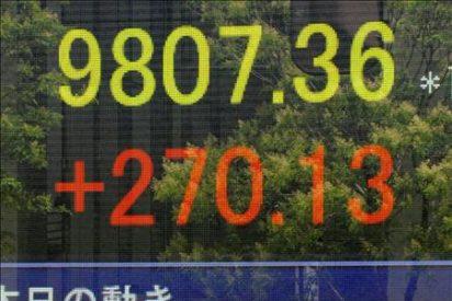 El índice Nikkei baja 63,46 puntos el 0,65 ciento hasta 9.622,07