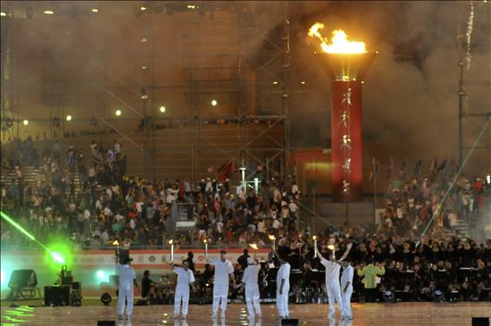 Los juegos de Mayagüez celebran su inauguración con retraso, música y protestas