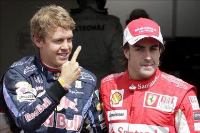 Vettel y Alonso en primera fila separados por tan solo dos milésimas