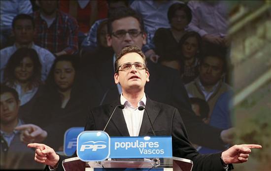 Basagoiti dice que Zapatero sería irresponsable si pone en peligro el pacto PSE-PP