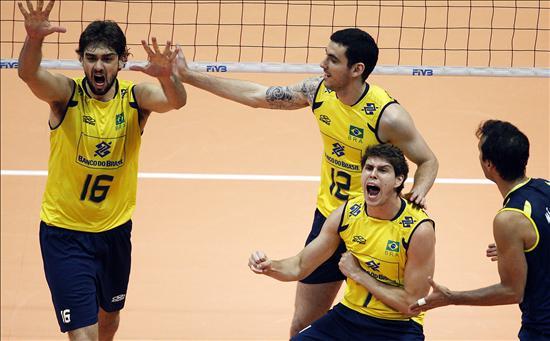 1-3. Brasil aparece en todo su esplendor para defender título de Liga Mundial