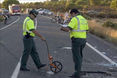 Mueren dos personas ocupantes de un vehículo tras salirse de la vía en Huelva