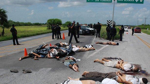 Encuentran quince cadáveres maniatados en una carretera de Taumalipas, México