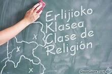 Desaparece la clase de Religion en bachillerato en Euskadi