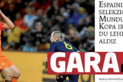 A joderse tocan: el cabreo de Gara por el triunfo de España en el Mundial
