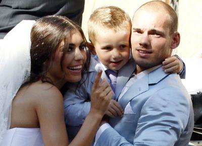 La boda de tres días del futbolista Sneijder