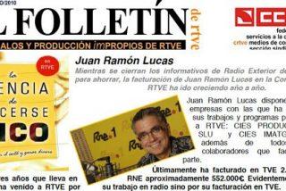 Juan Ramón Lucas amenaza con denuncias penales a los medios que informen de que se ha embolsado 3 millones de euros de RTVE