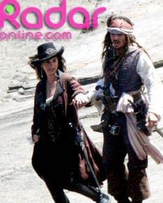 """Difunden foto de Penélope Cruz con """"Jack Sparrow"""" en Piratas del Caribe 4"""