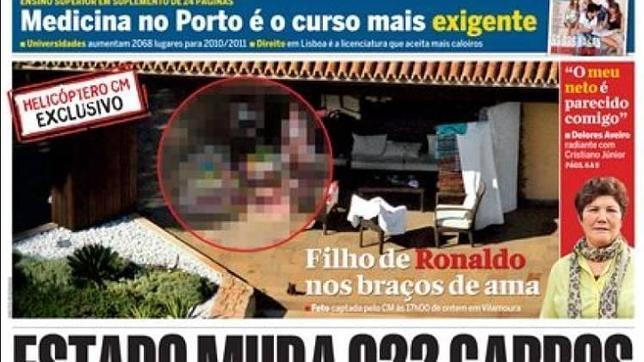 La primera foto del hijo de Cristiano Ronaldo