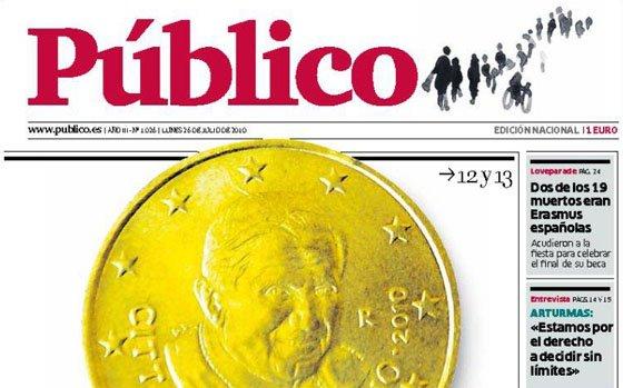 Público, entre sus obsesiones, la toma con la visita del Papa a España