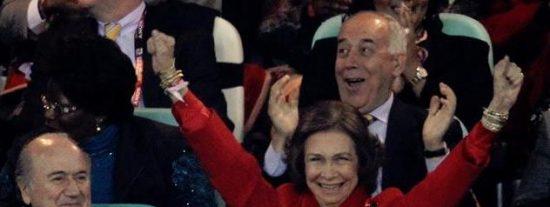 La reina Sofía, talismán de la Selección