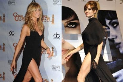Jennifer Aniston y Angelina Jolie: duelo de piernas