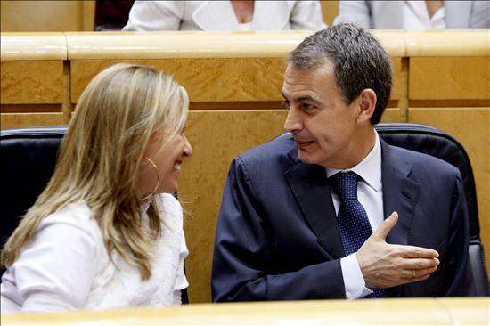 Zapatero destaca su buena valoración de Tomás Gómez y la buenísima de Trinidad Jiménez