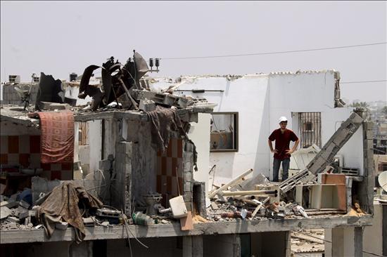 32 palestinos heridos por una explosión en la casa de un jefe de Hamás en Gaza