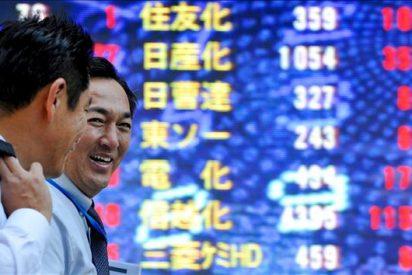 El índice Nikkei sube 166,22 puntos, el 1,73 ciento, hasta 9.736,53 puntos