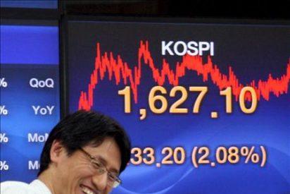 El índice Kospi sube 13,73 puntos, el 0,77 por ciento, hasta 1.796 puntos