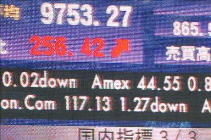El índice Nikkei baja 143,36 puntos, el 1,47 ciento, hasta 9.550,65 puntos