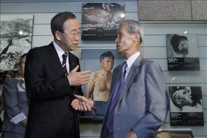 Ban Ki-moon pide el fin de las armas nucleares en su primera visita a Nagasaki
