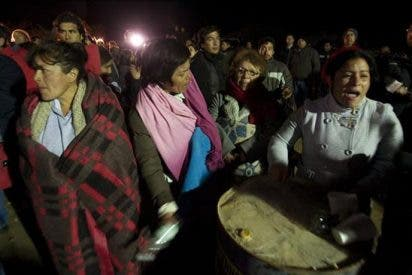 El presidente de Chile se reúne con un grupo de familiares de los mineros atrapados bajo tierra