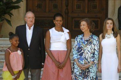 Los Reyes de España reciben a Michelle Obama en Palma de Mallorca