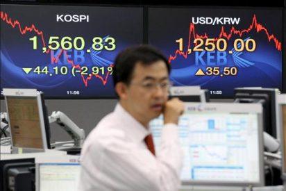 El Kospi baja 4,45 puntos, el 0,25 por ciento, hasta 1.779,38 puntos