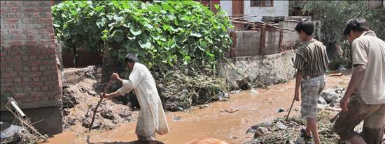 Siguen las tareas de rescate por las lluvias en el área cachemir de Leh, que afectaron a 25.000 personas
