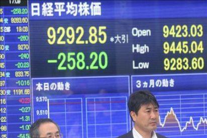 El índice Nikkei baja 139,31 puntos, el 1,49 ciento, hasta 9.153,54 puntos