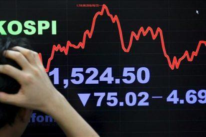 El índice Kospi baja 26,85 puntos, el 1,52 por ciento, hasta 1.731,34 puntos