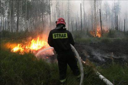 Disminuye en más del 25 por ciento el área afectada por los incendios en las afueras de Moscú