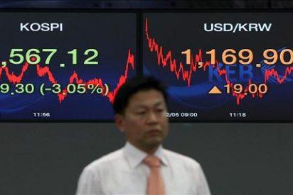 El índice Kospi sube 9,40 puntos, el 0,54 por ciento, hasta 1.731,15 puntos