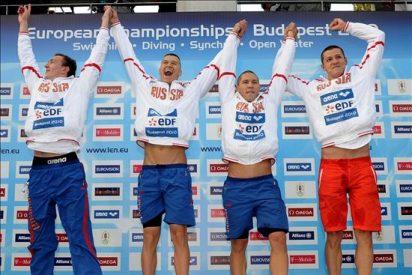 Rusia gana el relevo 4x200 en una jornada con seis récords de los campeonatos