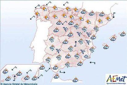Lluvias en Canarias y cielos poco nubosos en el resto