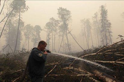 Se reduce el área afectada por los incendios, según el Gobierno ruso